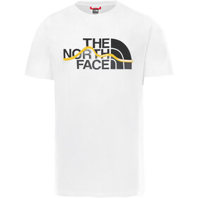 The North Face Mount Line Camiseta Manga Corta Hombre, TNF white/summit gold